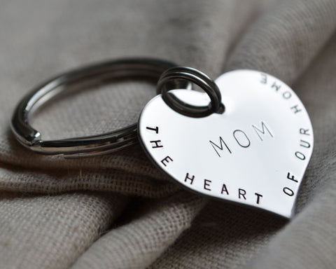 Heart of Our Home Keychain