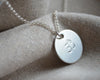 Long Ohm Disc Necklace