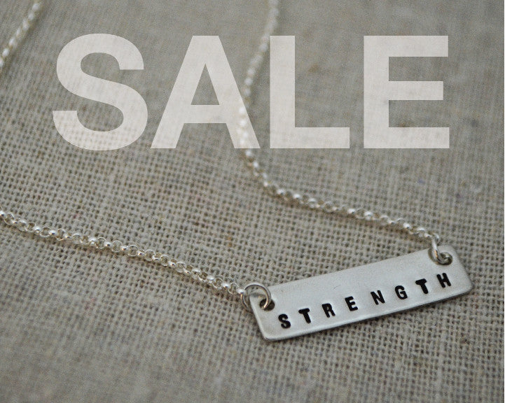 SALE Sterling Strength Necklace