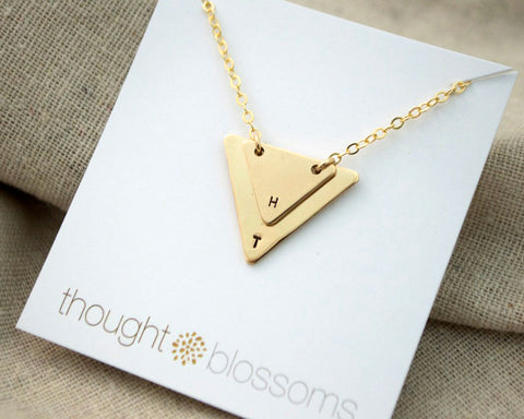 Two Triangle Necklace