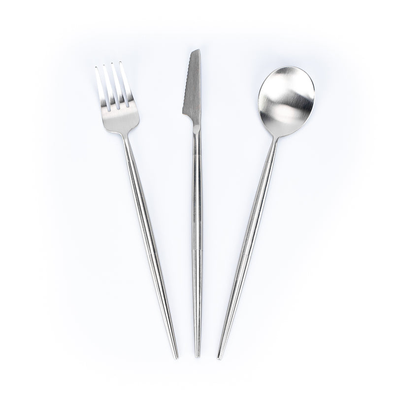 3-piece stainless steel cutlery set to screw together.