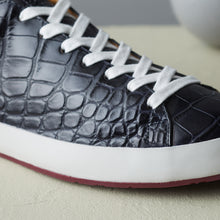 load image into gallery viewer, [Men's] Liberte : Crocodile Leather all / Navy