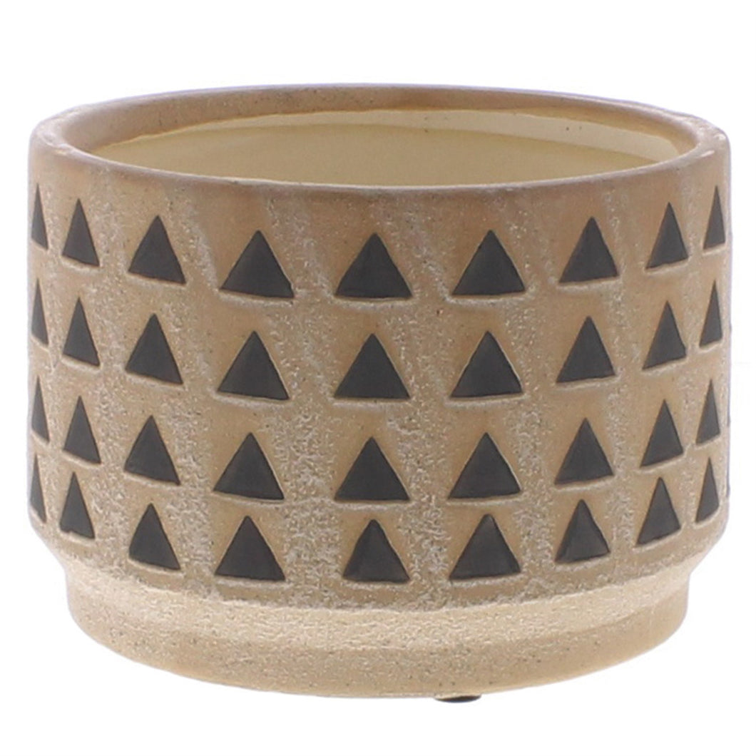 Large Ceramic Inca Cachepot