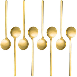 Gold Plated Stainless Steel Mini Spoons (Sold Individually)