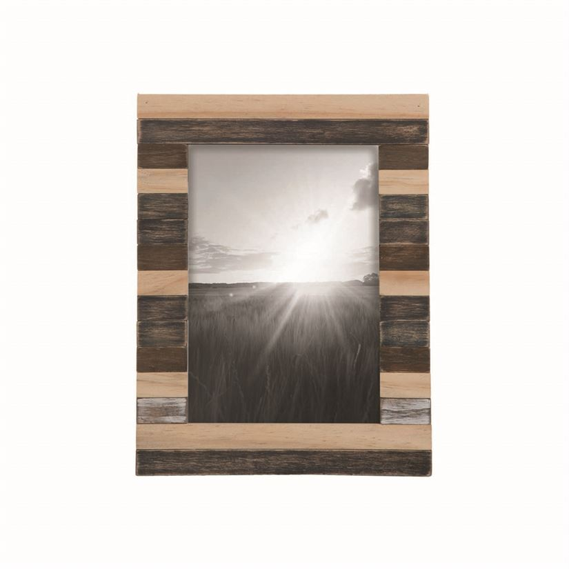 Slatted Wood Photo Frame (5x 7)