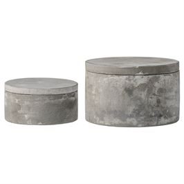 Cement Boxes with Lids
