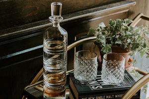 3-Piece Stackable Glass Decanter Set