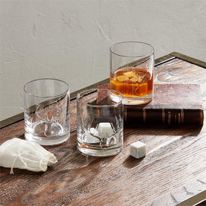 Antler Whiskey Glass & Stone Set (3 Styles)