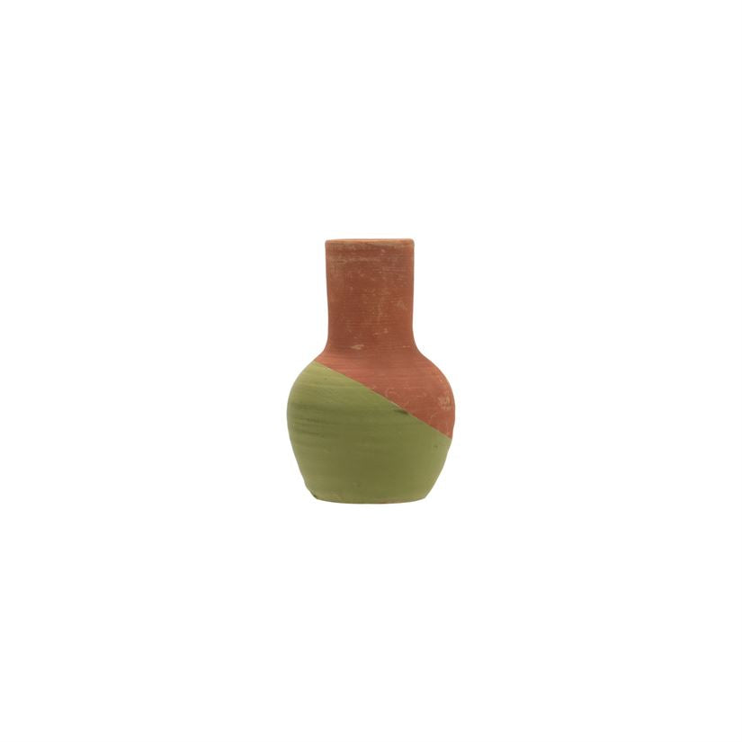 Dipped Bud Vase Green