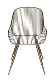 Metal Chair, Antique Gold Finish
