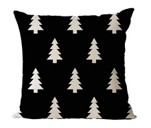 Load image into Gallery viewer, Black & Tan Christmas Tree Throw Pillow (2 Colors)