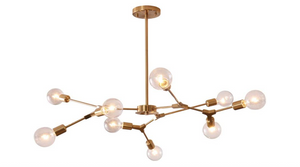 Nine Bulb Modern Light Fixture