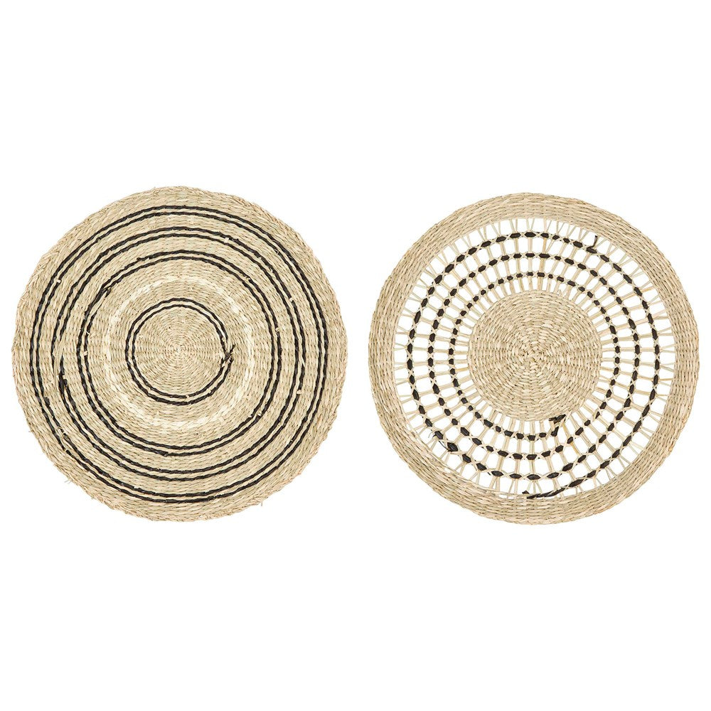 Round Hand-Woven Seagrass Placemat, 2 Styles