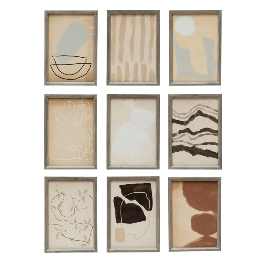 Set of 9 Abstract Prints