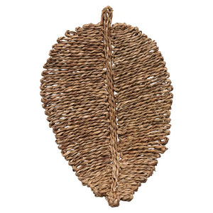 Leaf Shaped Woven Seagrass Placemat