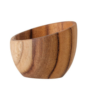 Teak Wood Single Egg Holder/Pinch Pot
