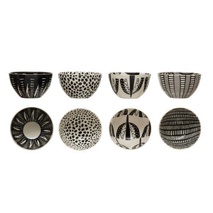 Black & White Stoneware Bowls - The Inna Collection (4 Styles)