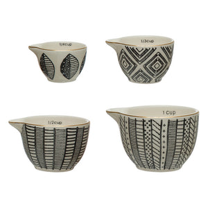Black & White Stoneware Measuring Cups - The Inna Collection