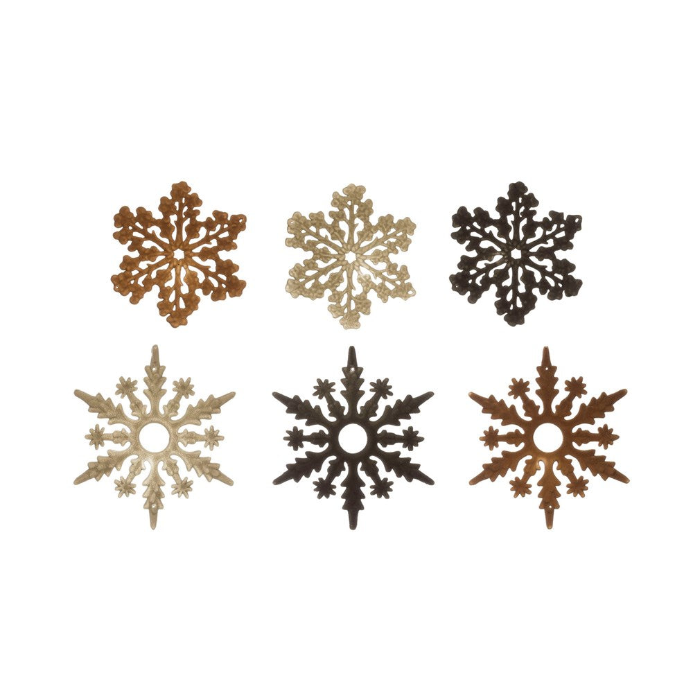 Flocked Snowflake Ornament (2 Styles & 3 Colors)