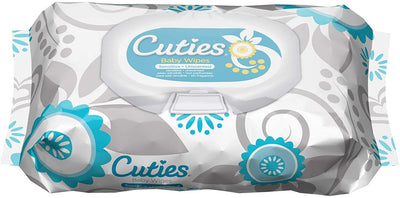 Cuties Baby Wipes, Sensitive & Unscented, 72 Count Soft-Pack