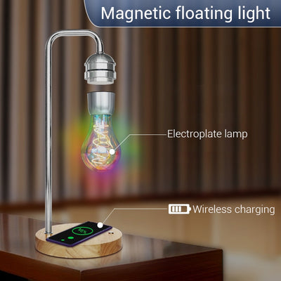 Magic Levitating Lamp Floating Bulb with Wireless Charger Base for Phone