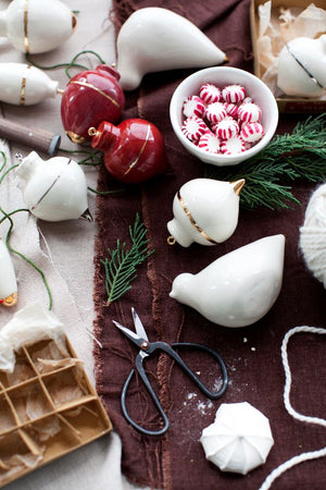 Heirloom Christmas Ornament // Radish White & Gold