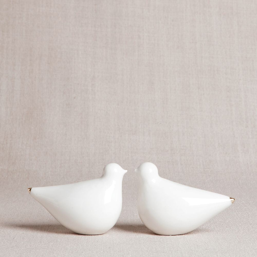 Pair of White Doves // GoldTips