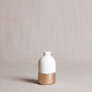 Minimalist White and Gold Vase