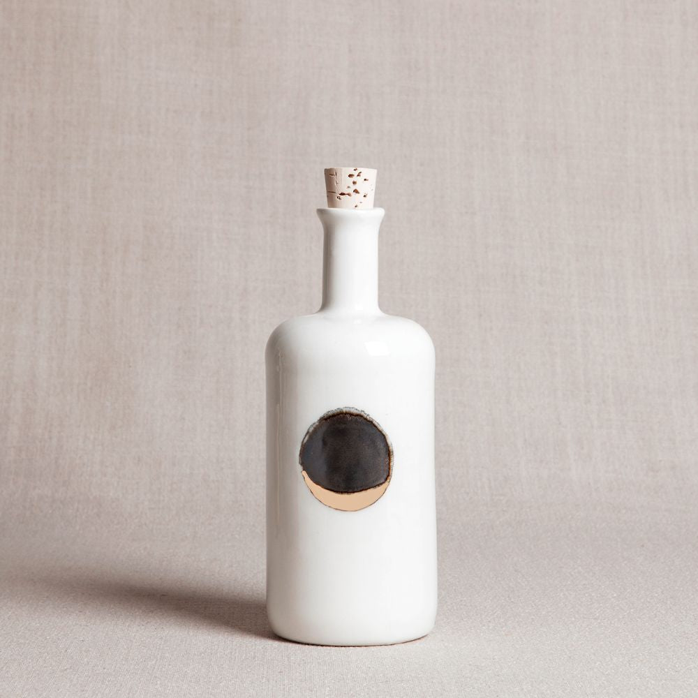 Waxing Moon Bottle in White