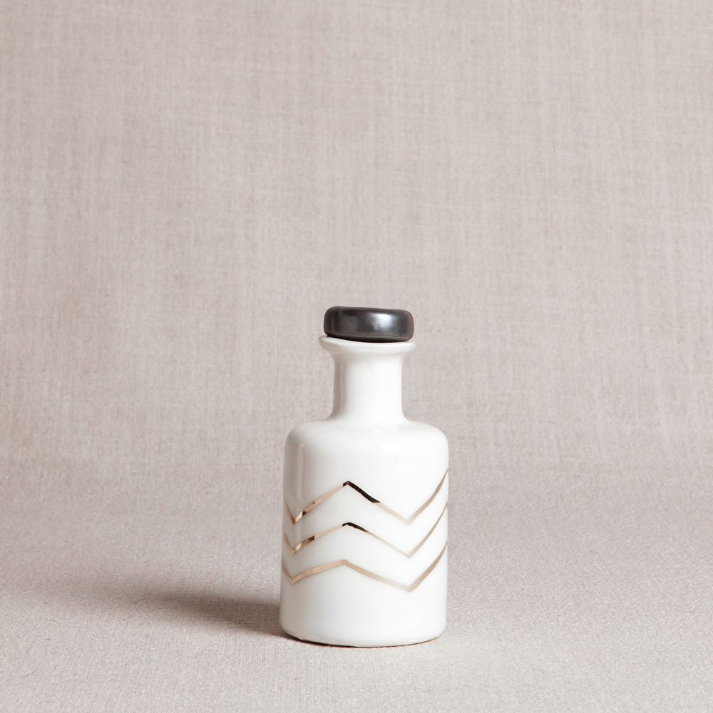 Gold Chevron Apothecary Bottle