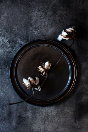 Metallic Black - Dinner Plate