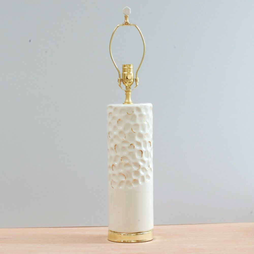 Carved Lamp: White