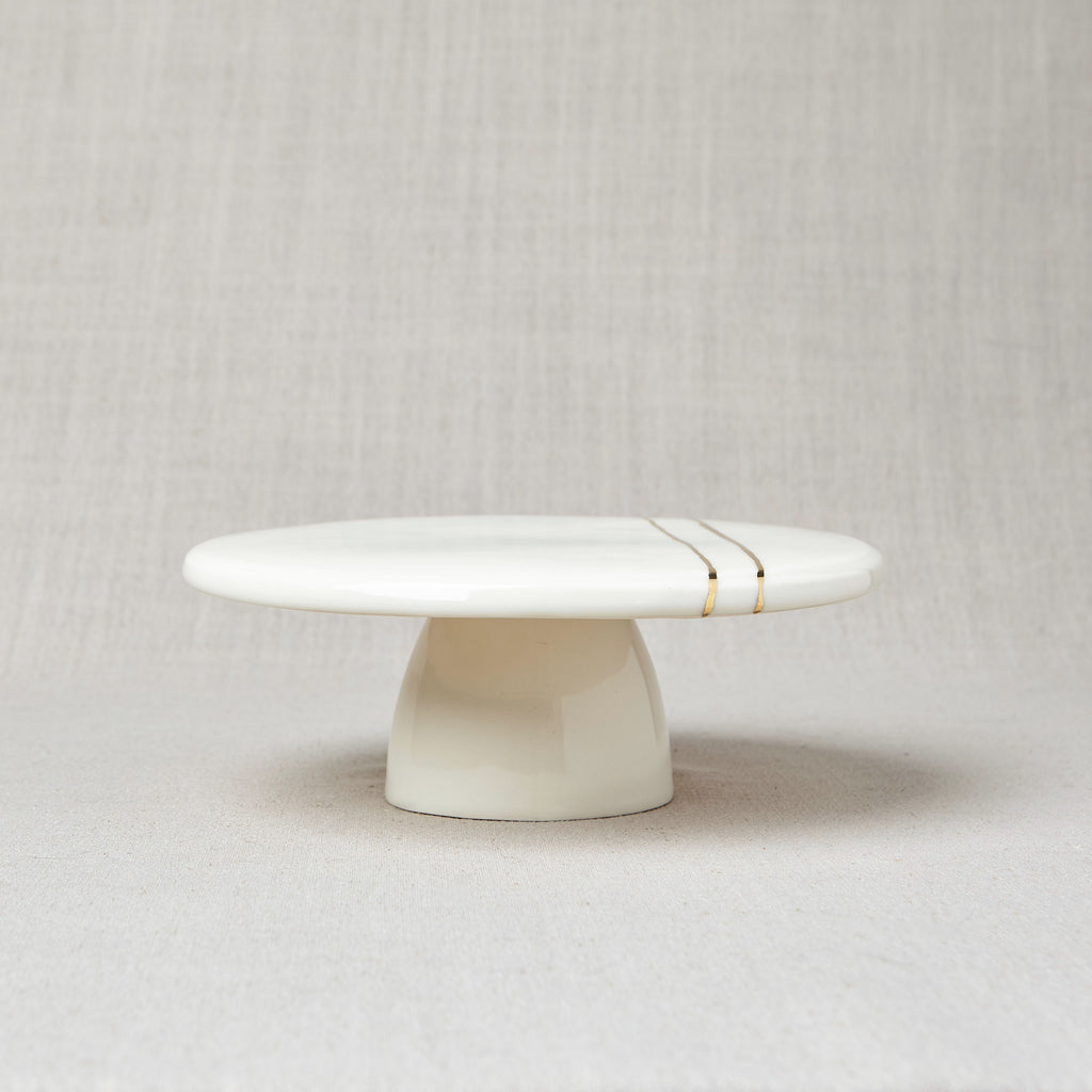 White + Gold Cake Stand