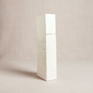 Rectangle Vase with Textured Glaze