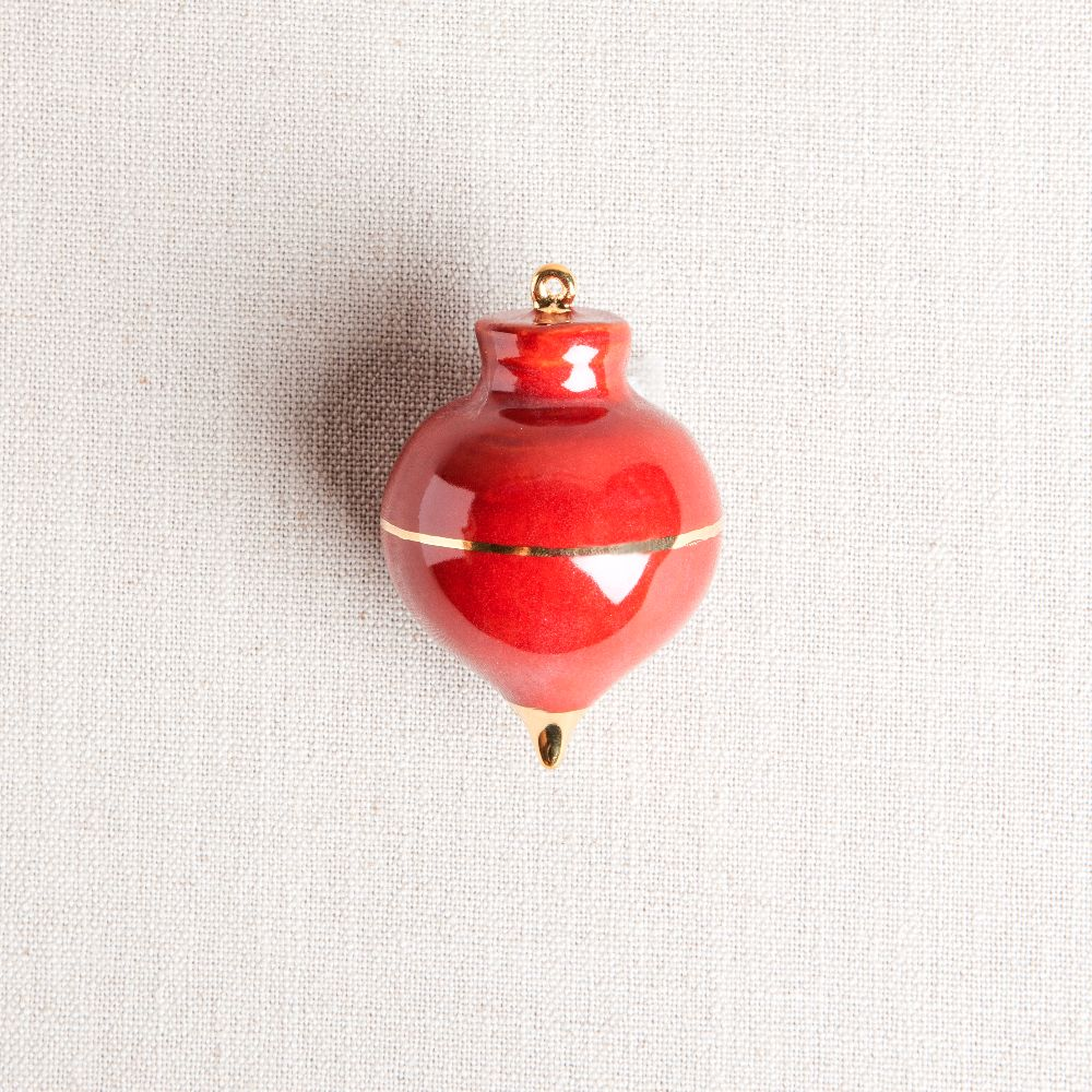 Heirloom Christmas Ornament // Radish Oxblood Red & Gold