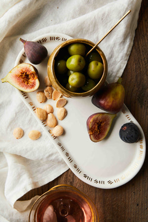 Limited Edition Collaboration: Set of White and Gold Platters