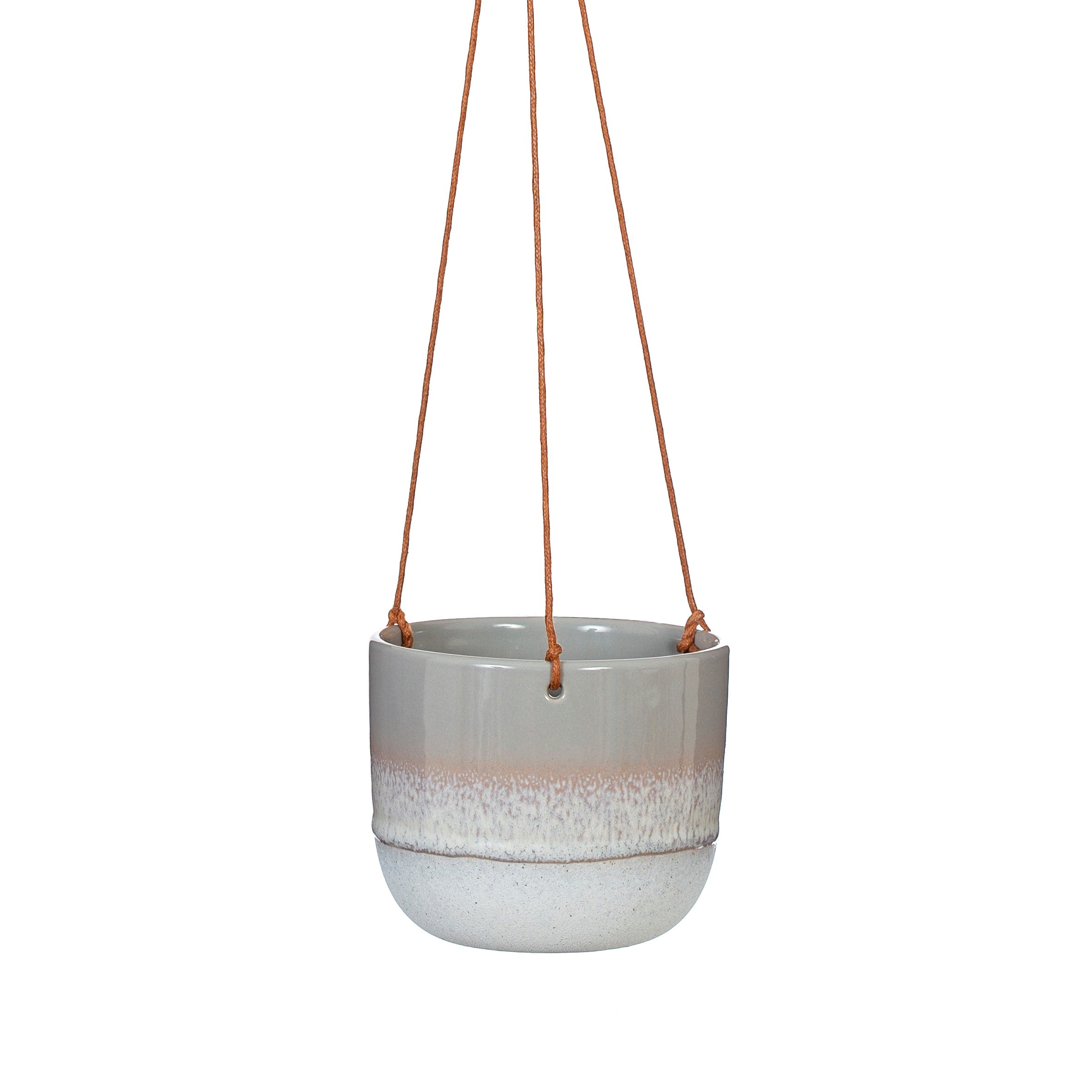 Mojave grey hanging planter