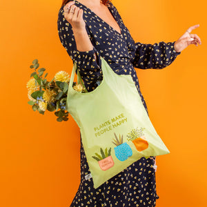 Plants Make People Happy reusable bag