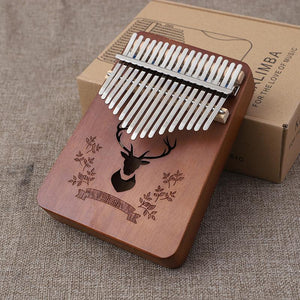 (Mother's Day Promotion)Kalimba 17 Key Thumb Piano Wood Mahogany Calimba Body