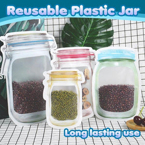 5pcs-Reusable mason bottle ziplock bag
