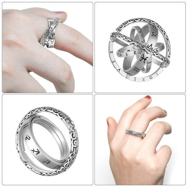 Unisex S925 Sterling Silver Astronomical Ring - BUY 2 FREE SHIPPING