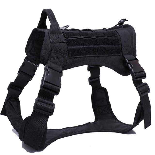 NEW Military Tactical No-Choke Dog Harness With Top Handle