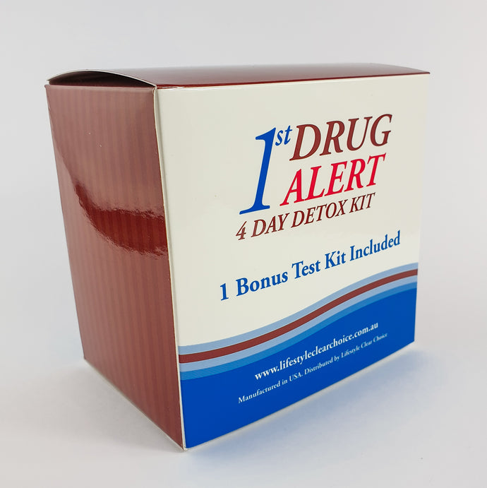 1st ALERT - 4 DAY BODY DRUG DETOX KIT - PASS YOUR DRUG TEST