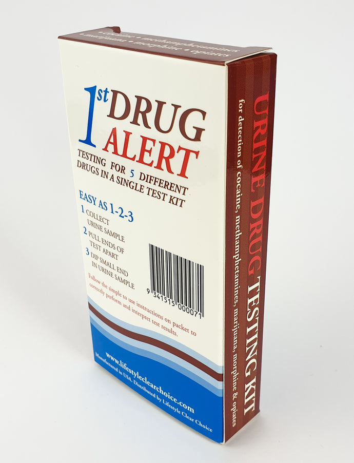 1st ALERT - 1 PANEL URINE DRUG TEST KIT- Test for Marijuana (THC)