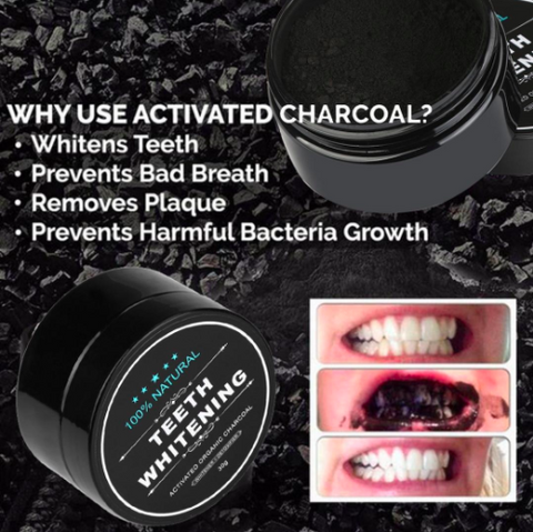 Image of Natural activated charcoal teeth whitening