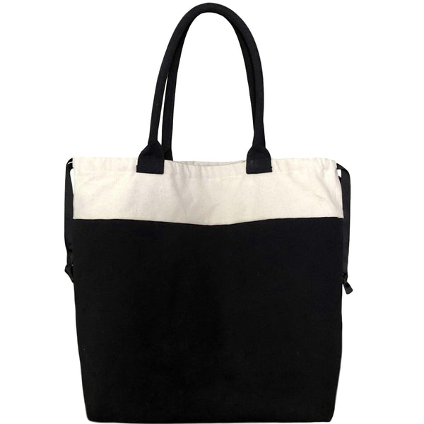 World Traveler Blank Tote Bag - Black