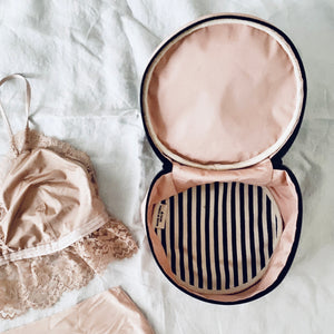 round lingerie case pink - bagall korea