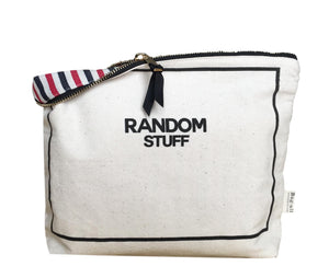 Random Stuff Case - Metal Zipper with a Grosgrain Ribbon