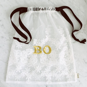 Lace Bag - Large White