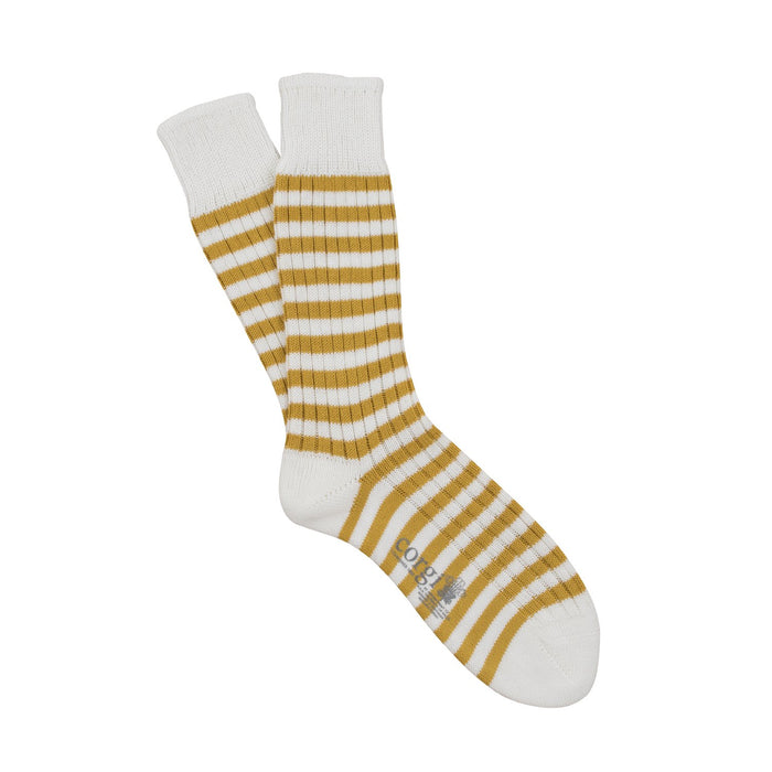 Men's Sailor Stripe Pure Cotton Socks